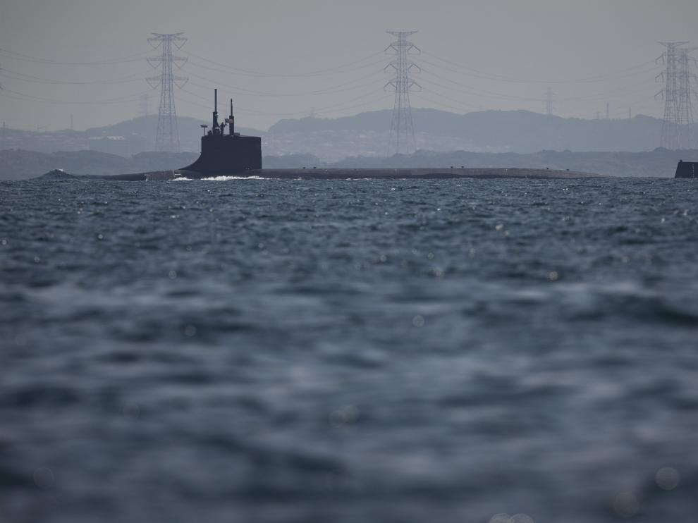 El submarino nuclear estadounidense 'USS Connecticut'.