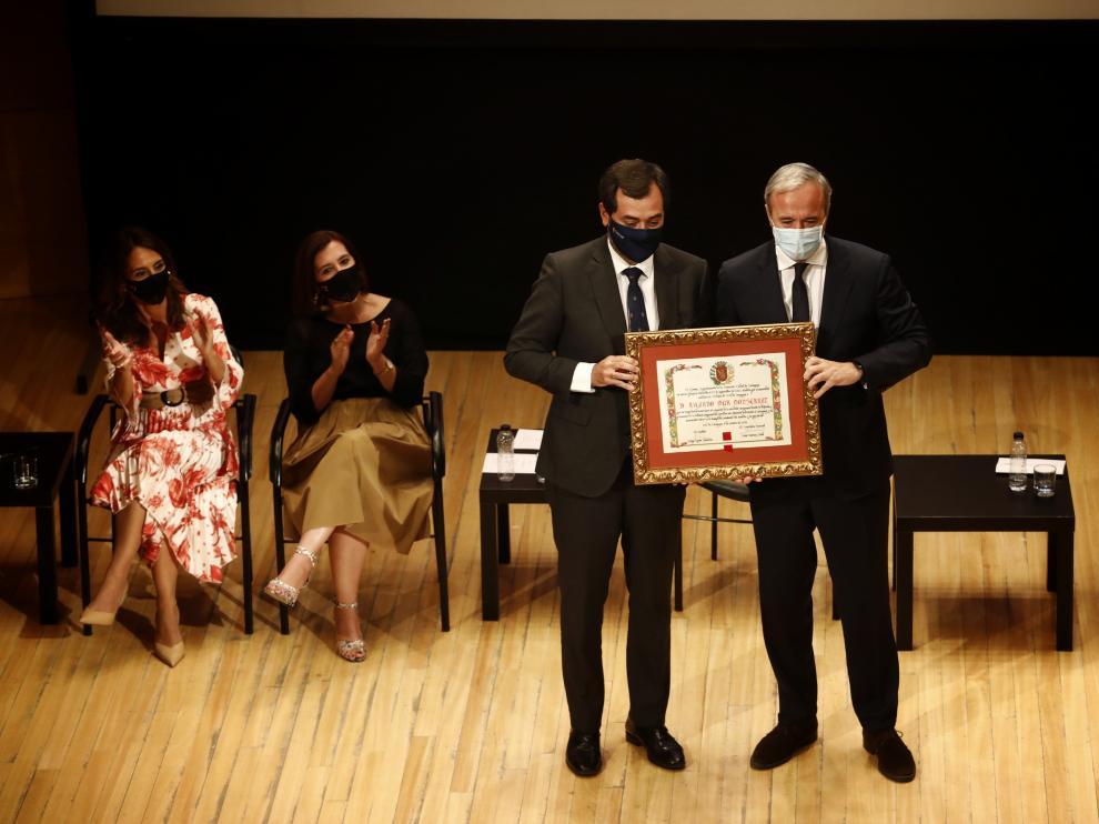 Entrega de la medalla de oro y títulos honoríficos del Ayuntamiento de Zaragoza.