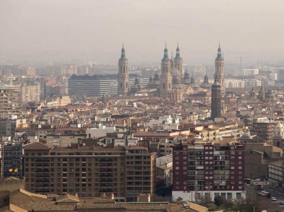 Panorámica de Zaragoza.