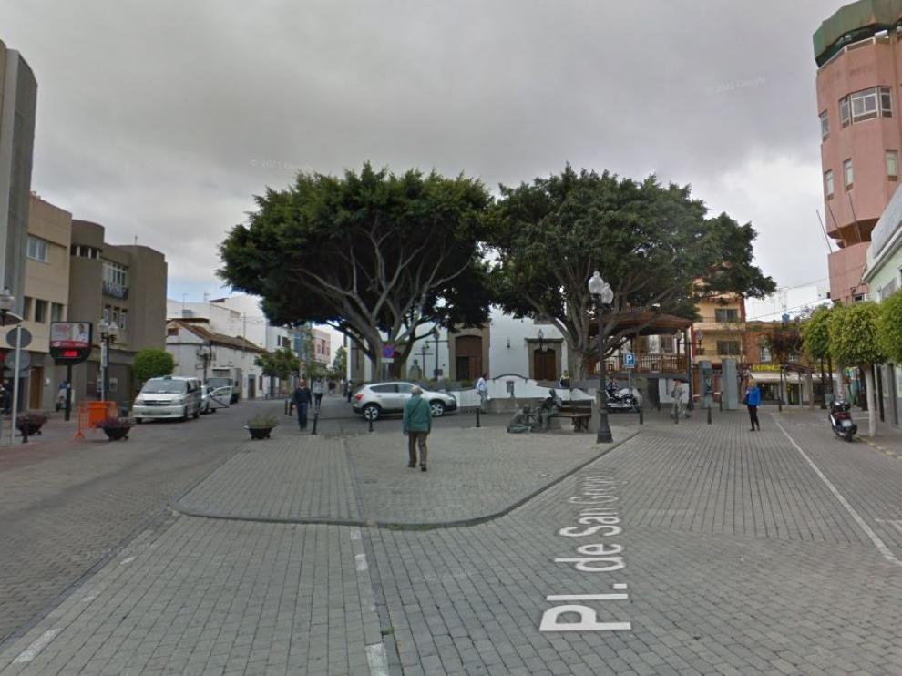 Una plaza de la localidad canaria de Telde.