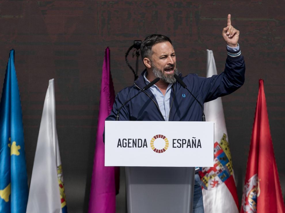 Abascal durante su mitin este domingo en Madrid