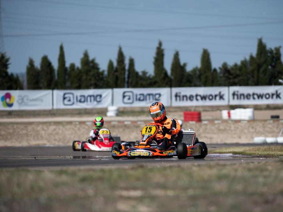Jaime Alguersuari, en acción en el CEK Finetwork en Zuera
