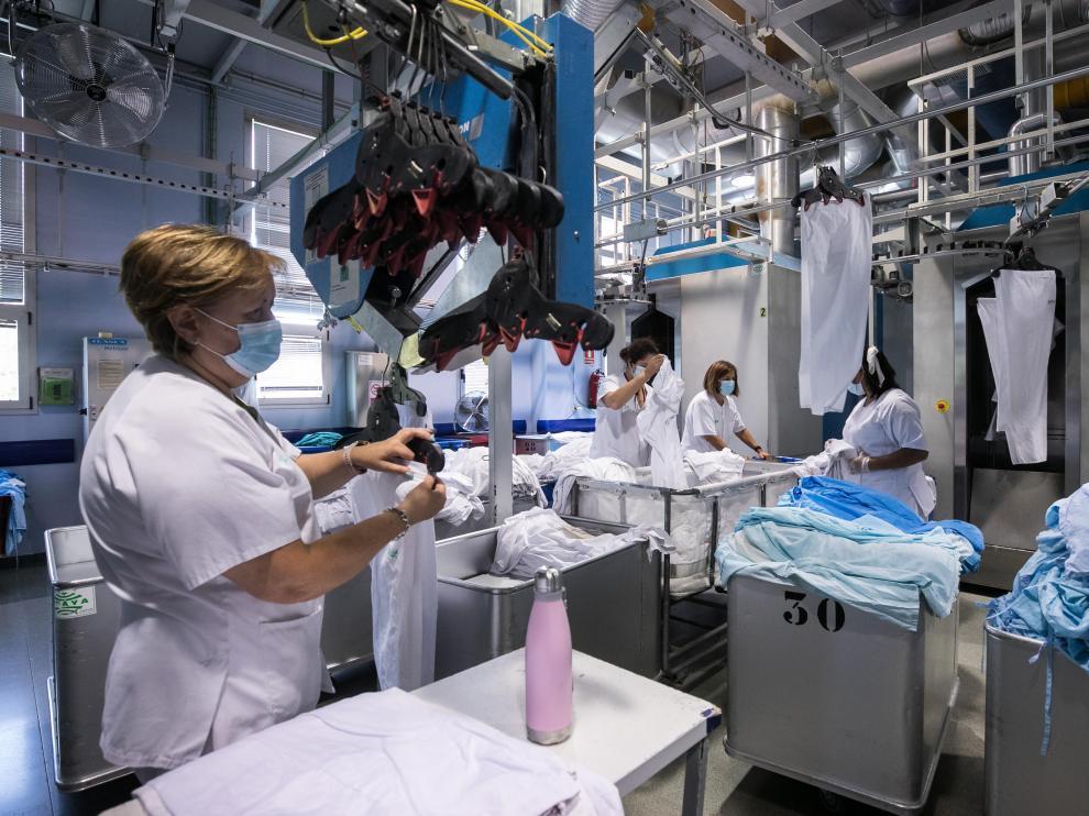 Lavandería del Hospital Miguel Servet de Zaragoza