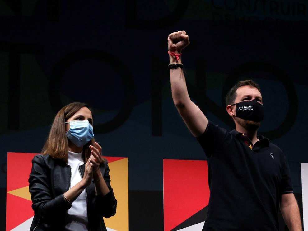 Pablo Iglesias junto a Ione Belarra