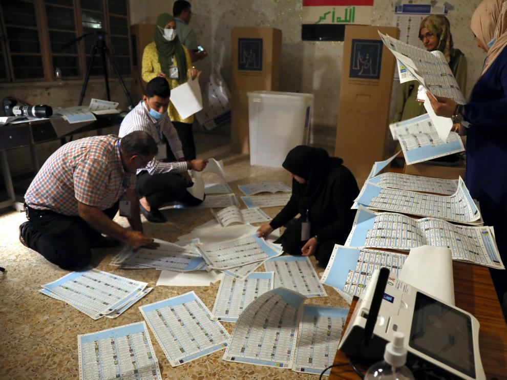 Recuento de votos en Bagdad IRAQ ELECTIONS