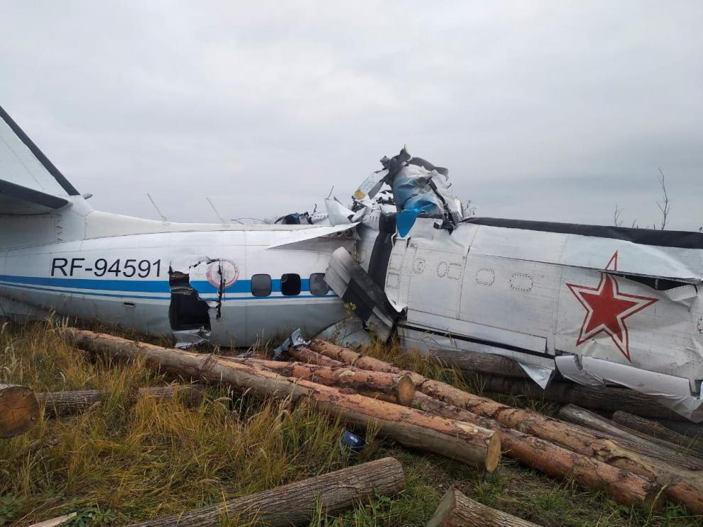 Accidente de avión en la región rusa de Tatarstán