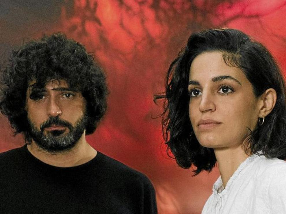 Marcel Bagés y Maria Arnal, este martes en el Jardín de Invierno.