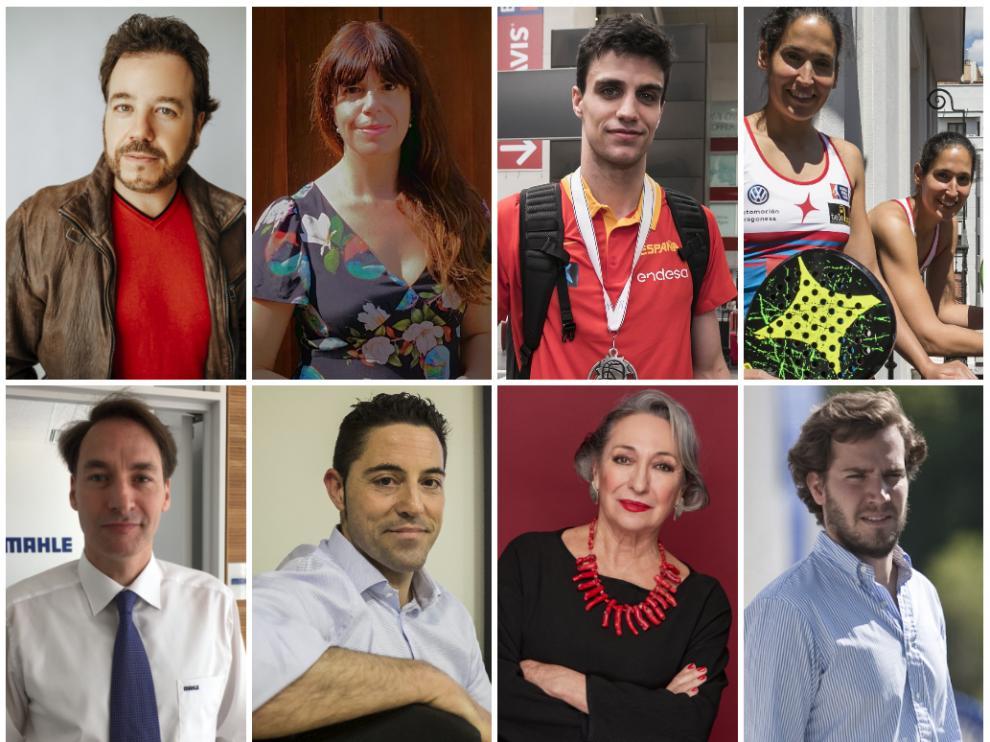 Eduardo Aladrén, Mavi Doñate, Carlos Alocén, Mapi y Majo Sánchez Alayato, Joaquín Martori, Víctor Lapeña, Luisa Gavasa y Borja Giménez.