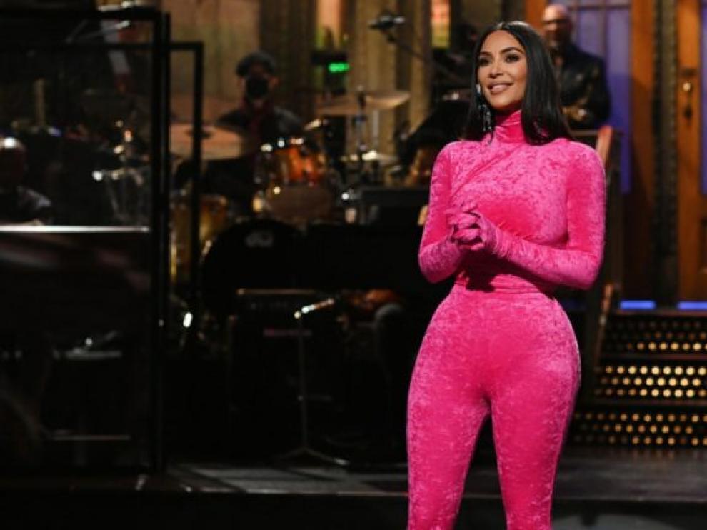 Kim Kardashian en el show 'Saturday Night Live'.
