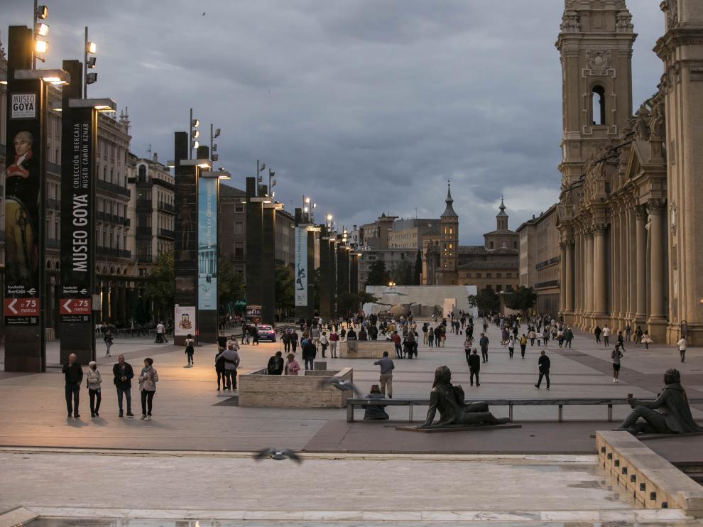La perspectiva favorita de Carlos Escribano de la plaza del Pilar
