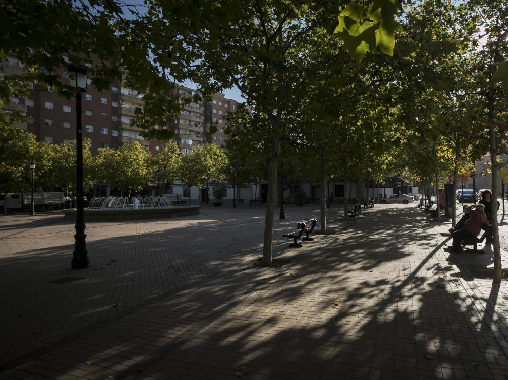 Plaza Mayor del zaragozano barrio de Sant Isabel