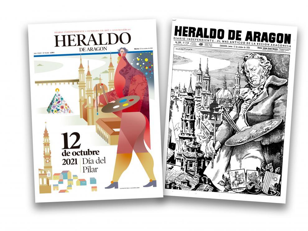 Reinterpretación de la portada de HERALDO del 12 de octubre de 1978