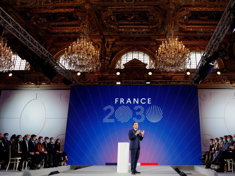 Comparecencia del presidente de Francia, Emmanuel Macron
