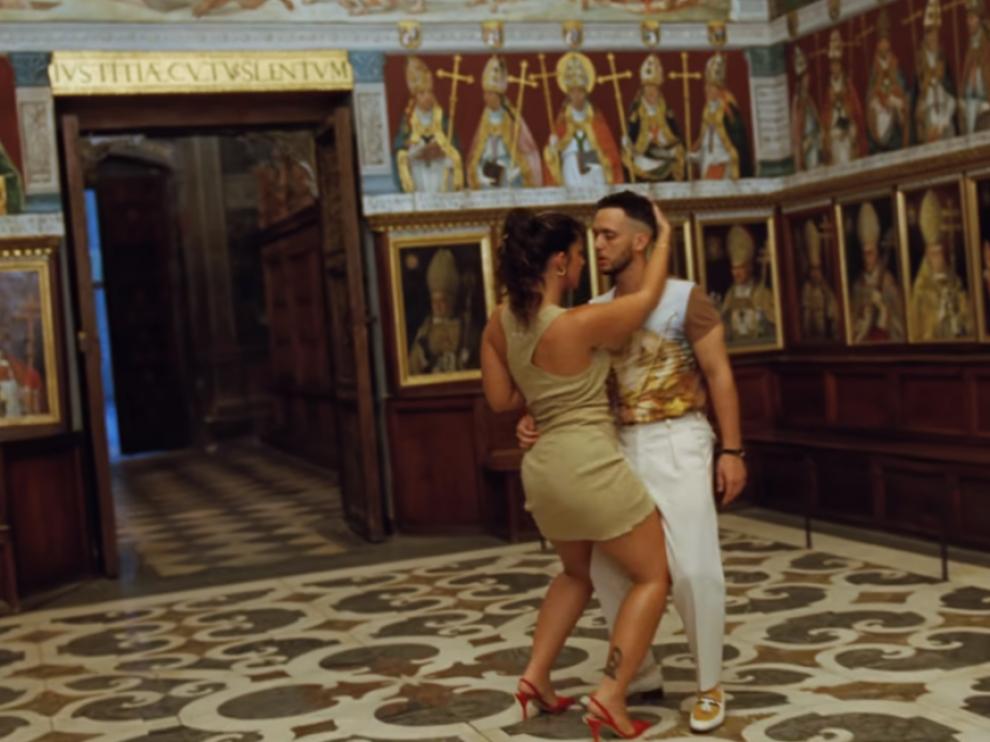 Fotograma del vídeo grabado en la catedral