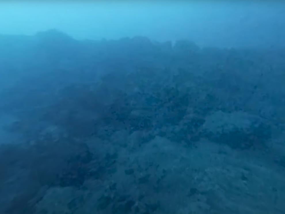 Imagen submarina del volcán de La Palma.