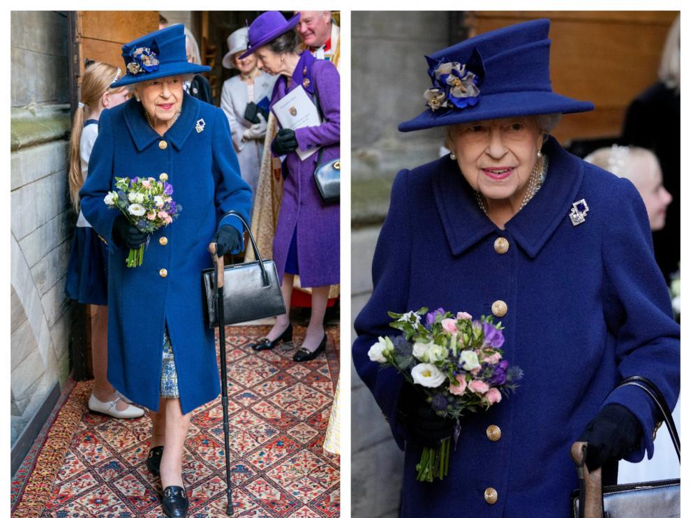 Isabel II acudió este martes a la abadía de Westminster