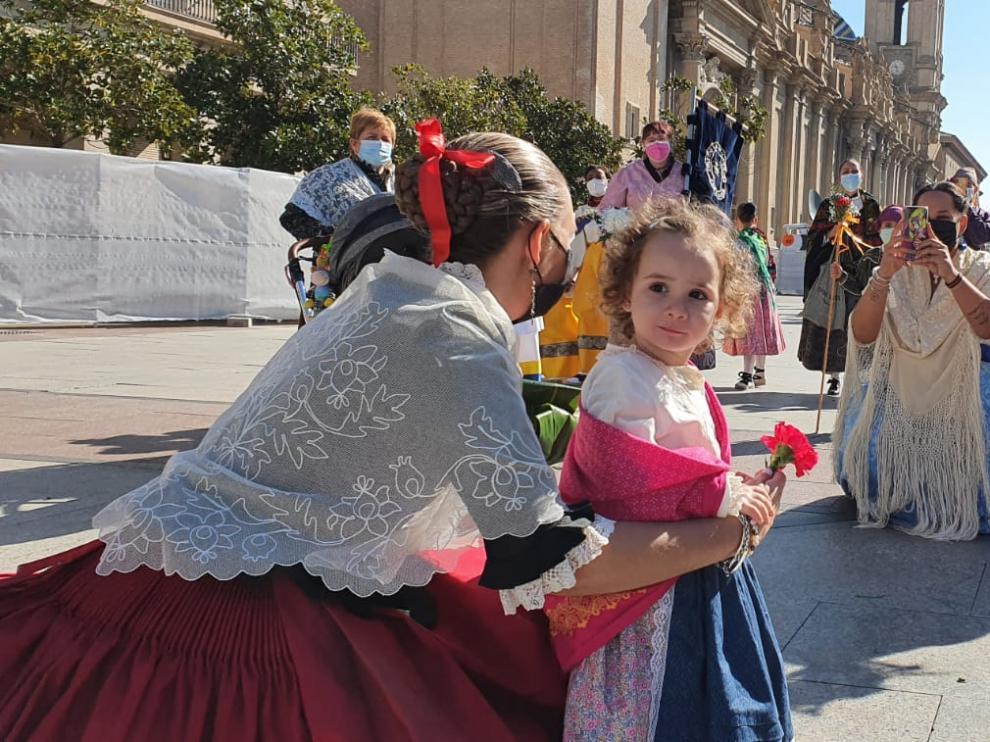 Arancha, de dos añitos, llega de Santa Cruz del Grio junto a su familia.