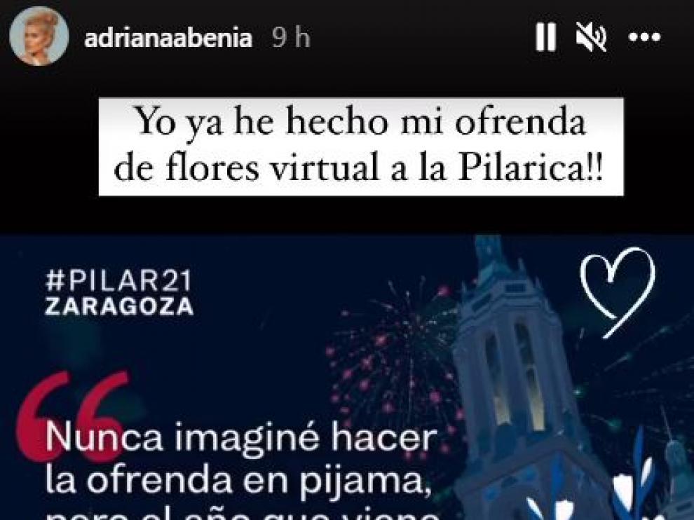 De Ander Herrera a Adriana Abenia: los famosos se vuelcan con la Ofrenda Virtual a la Virgen del Pilar