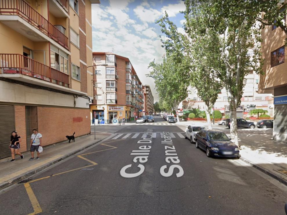 La calle Doctor Sanz Ibáñez, donde ocurrió el atropello.