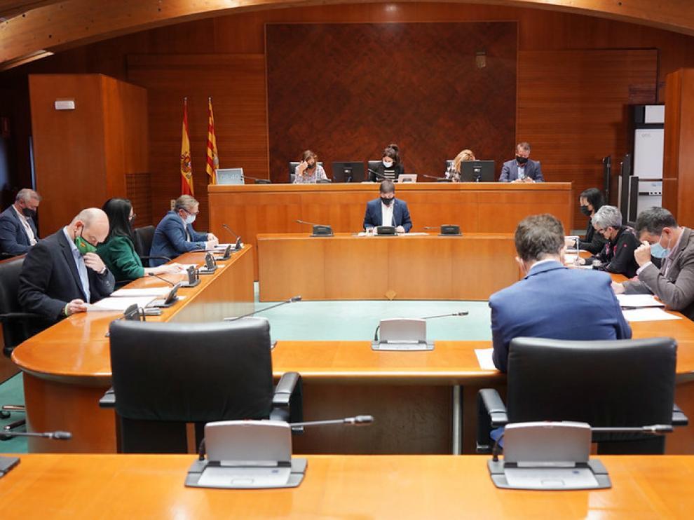 Comisión de Vertebración del Territorio en las Cortes de Aragón