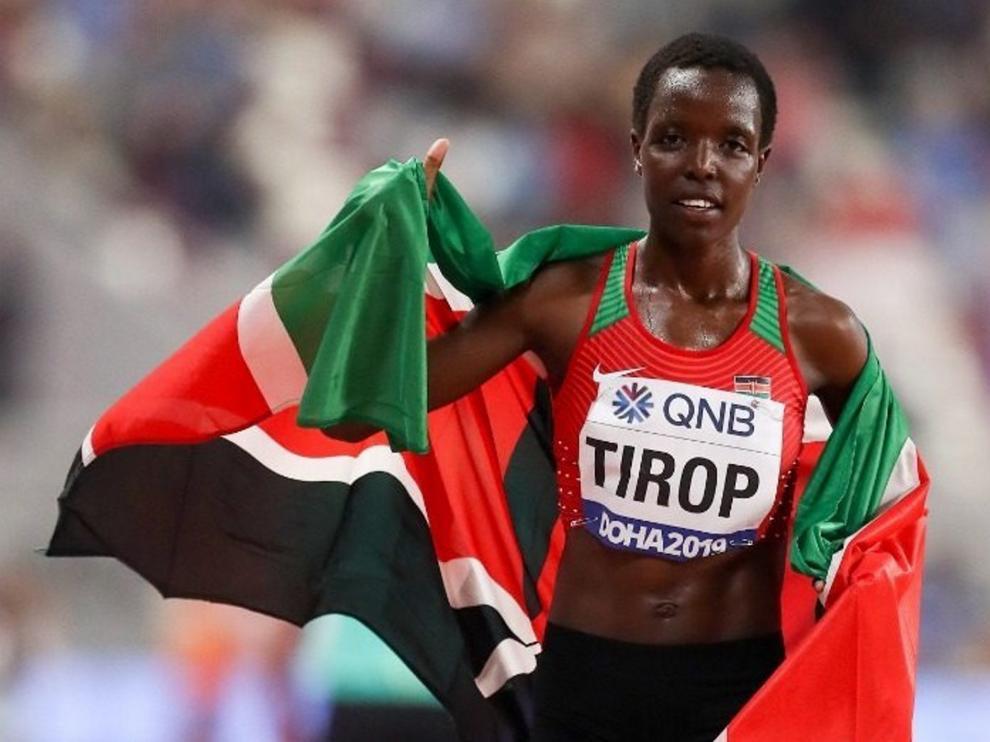 El mes pasado, Tirop, estableció un nuevo récord mundial en los 10 kilómetros en ruta