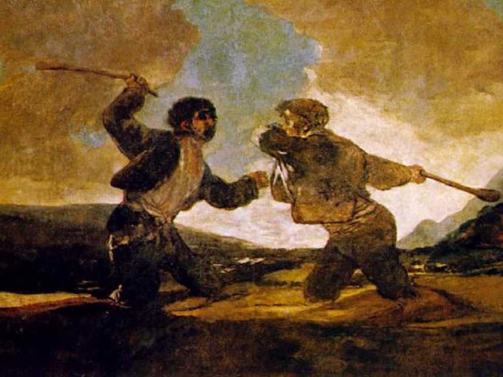 Uno de los cuadros más audaces de Goya: 'Duelo a garrotazos', de las Pinturas Negras.