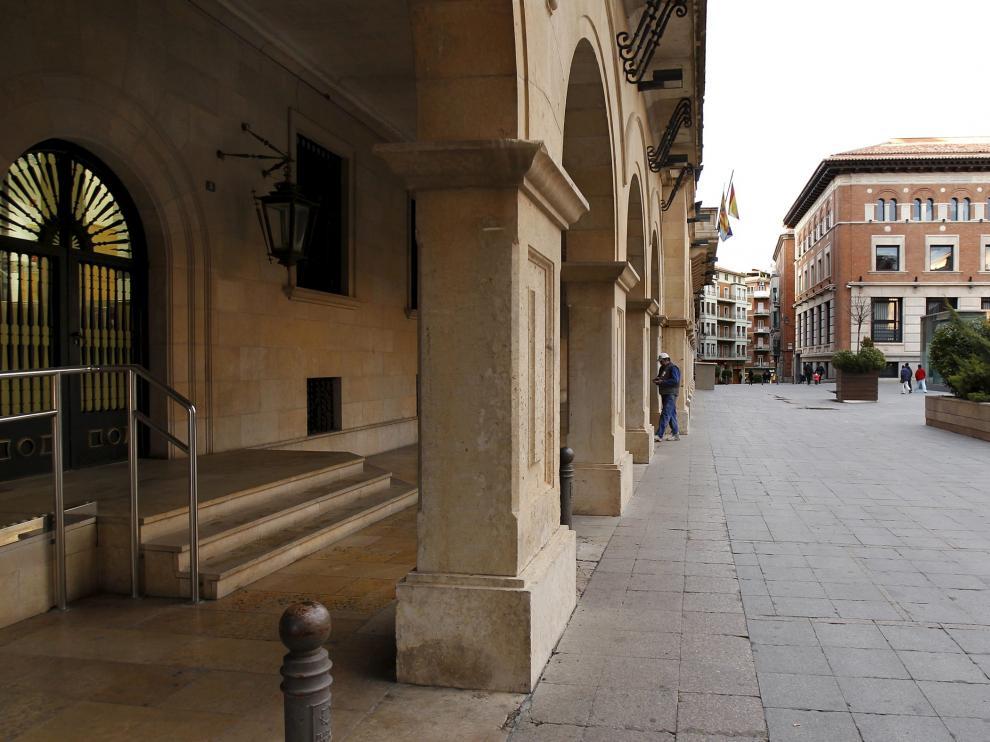 Sede del Juzgado de lo Social en el Palacio de Justicia de Teruel.