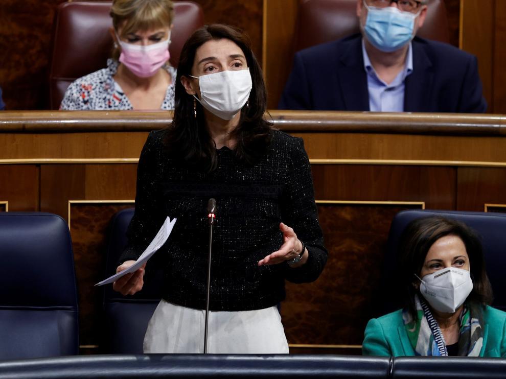 La ministra de Justicia, Pilar Llop, en la Sesión de Control al Gobierno.