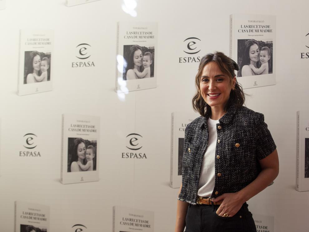 Tamara Falcó, marquesa de Griñón, durante la presentación de su libro 'Las recetas de casa de mi madre' en el hotel Ritz de Madrid.
