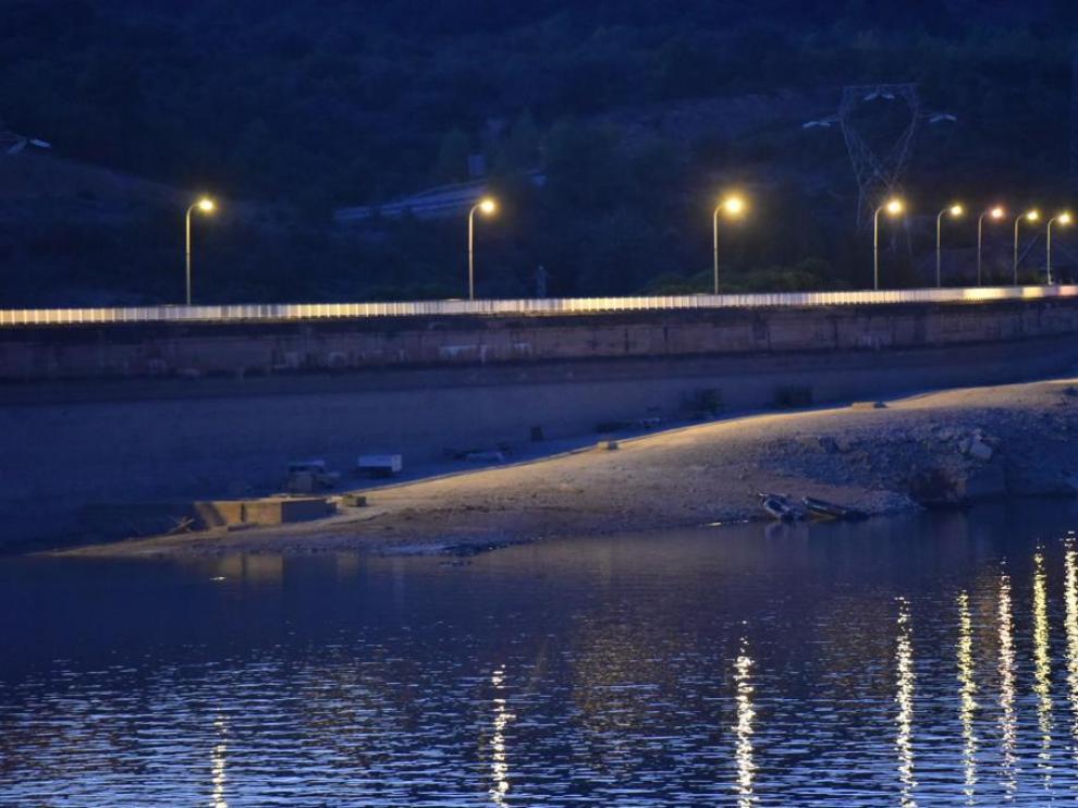 Zona de búsqueda en la presa de El Grado