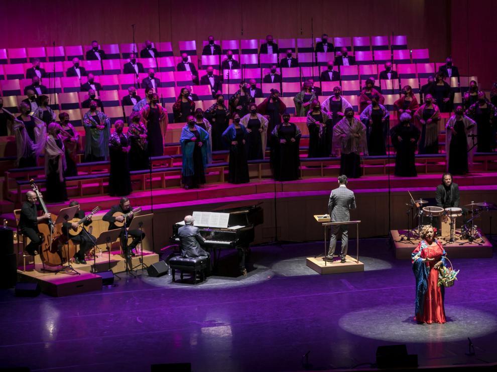 La mezzosoprano Beatriz Gimeno, en un momento del concierto