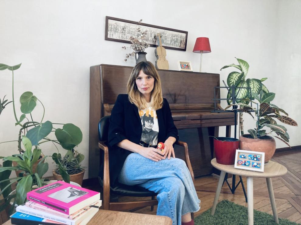 La periodista zaragozana Victoria Gabalón, editora de la revista 'MaMagazine'.