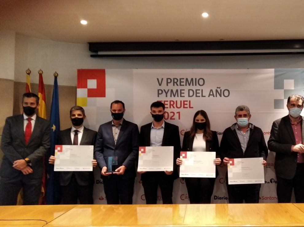 Foto de las empresas galardonadas con los Premios Pyme de la Cámara de Comercio de Teruel.
