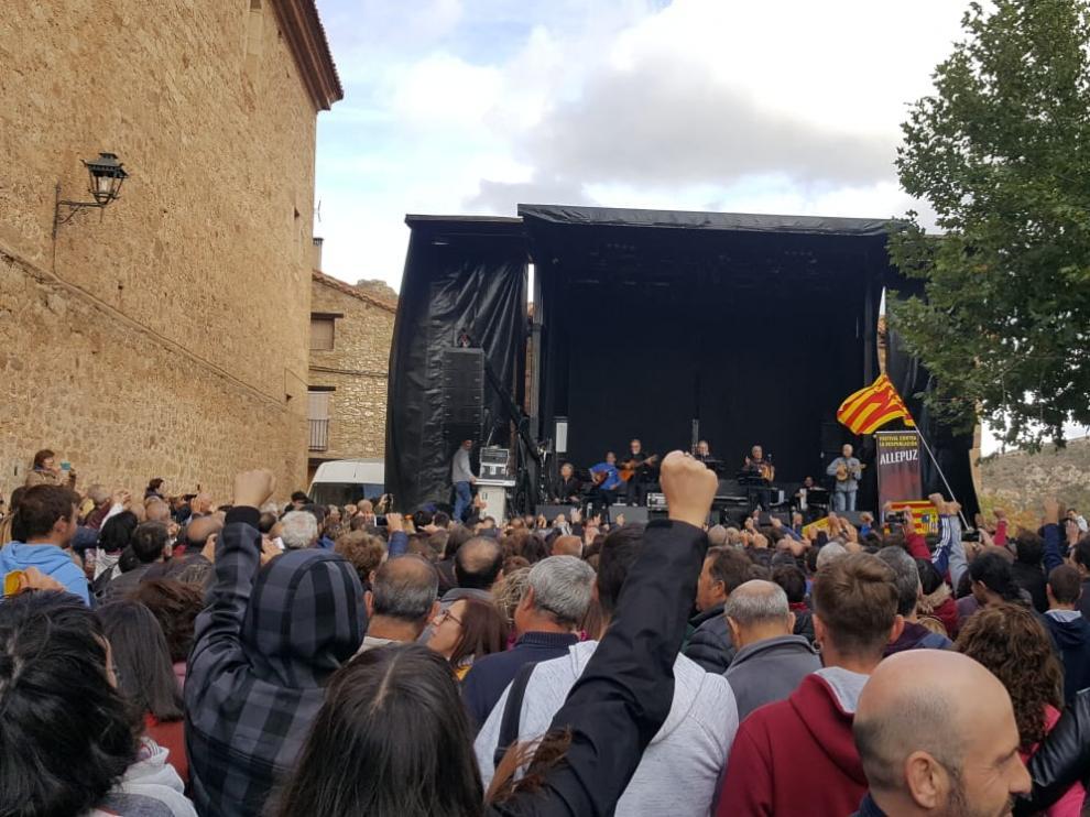 Imagen de la última edición del Festival Contra la Despoblación de Allepuz.