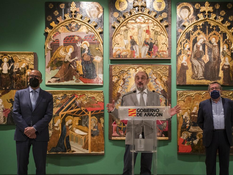 Javier Lambán en el Museo de Zaragoza