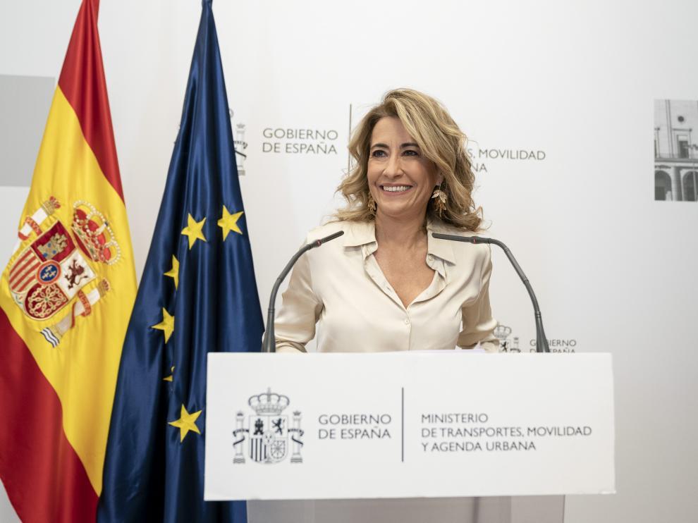 La ministra de Transportes, Raquel Sánchez.