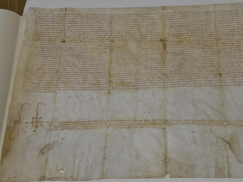 Pergamino de Germana Foix