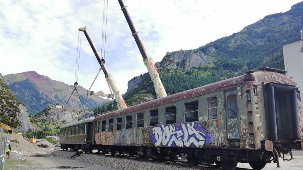 Obras en la estación de Canfranc.