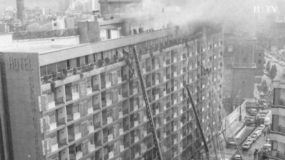 Incendio del Hotel Corona de Aragón, ¿Fortuito o atentado?