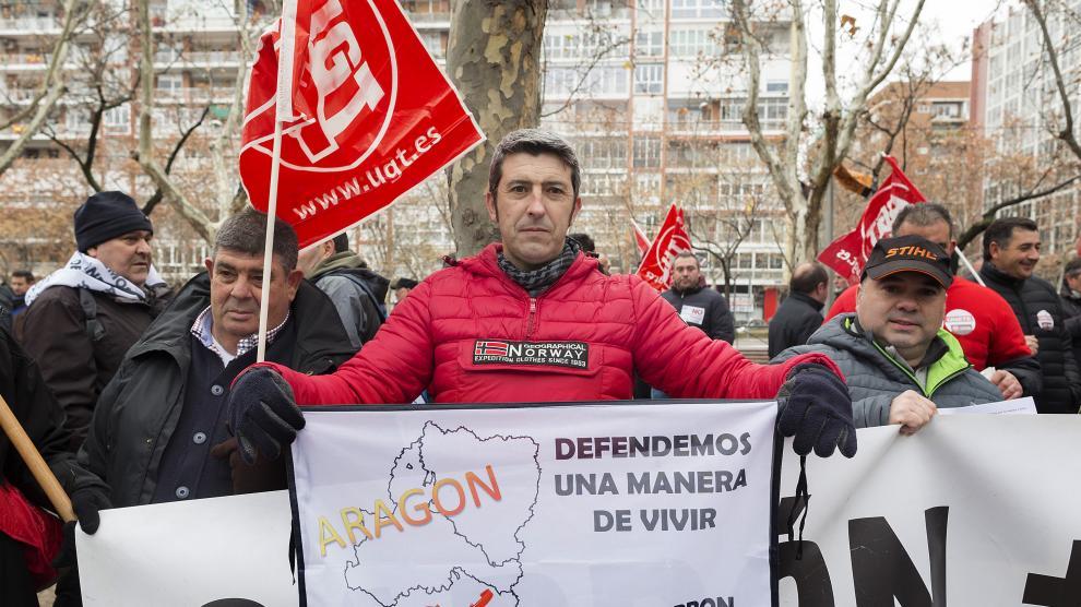 Protesta de los mineros en Madrid