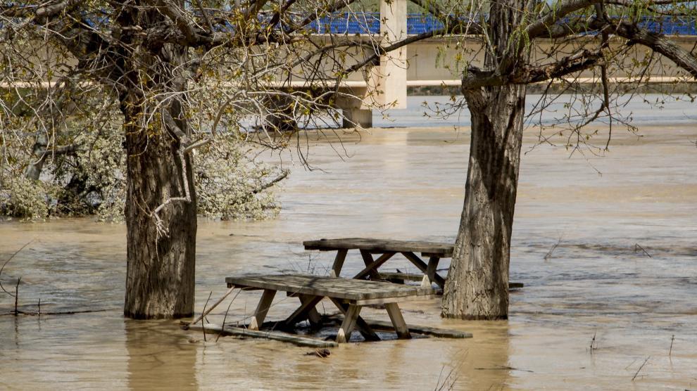 La crecida del Ebro en Novillas