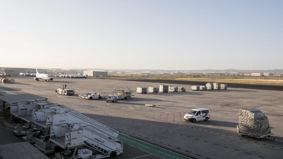 El Mundial de MotoGP, rumbo a Asia desde el Aeropuerto de Zaragoza