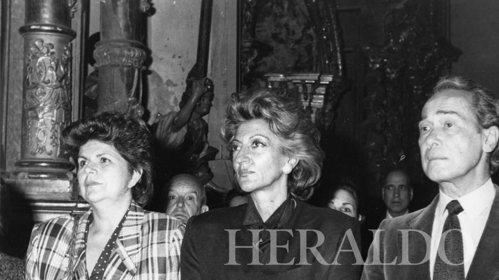 Pitita Ridruejo, en Daroca, en 1986