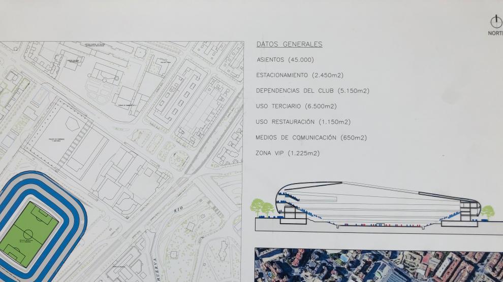 Planos del plan director presentado este jueves por el PP