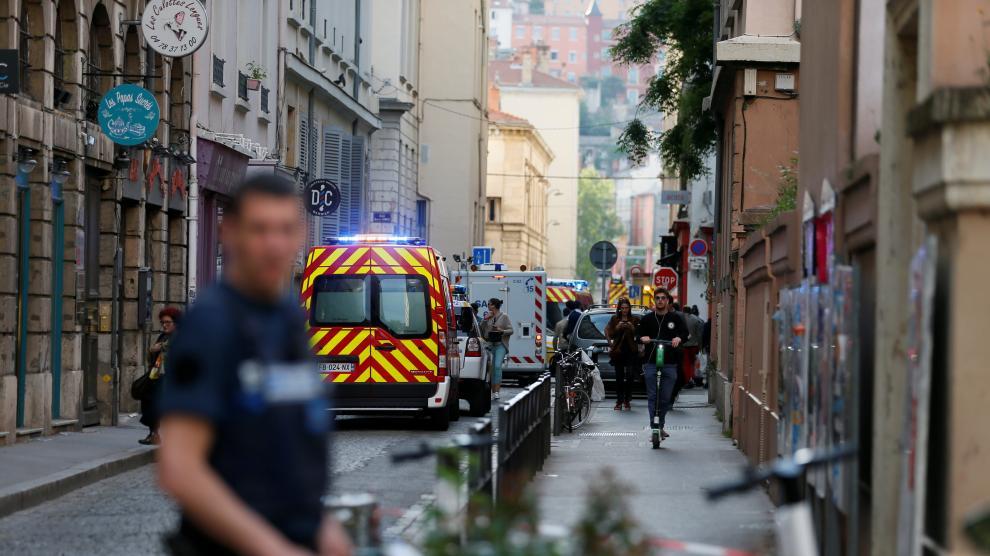 Explosión en el centro de Lyon (Francia).