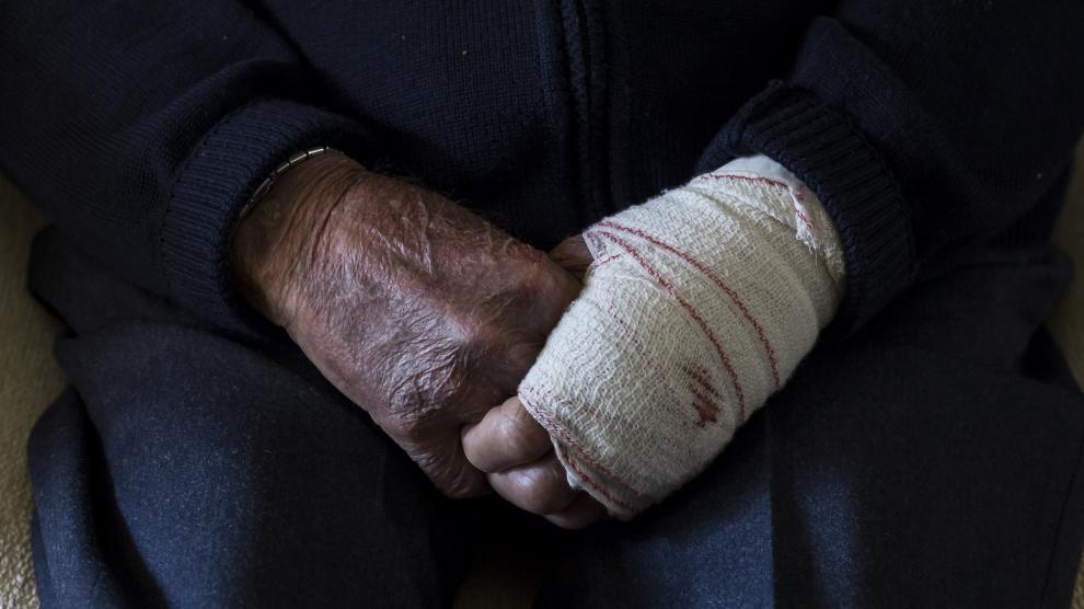Agresión a Antonio, de 96 años, en su casa de Encinacorba.