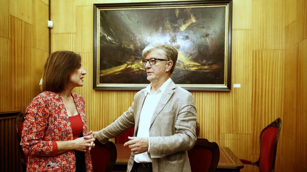 Traspaso de poderes en el Ayuntamiento de Zaragoza