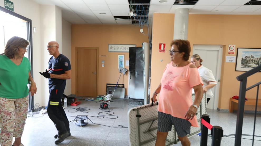 Incendio en la residencia de Aspanoa en Almudévar