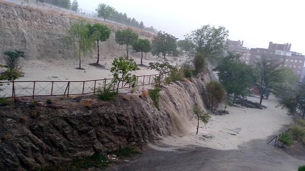 Las fuertes tormentas provocan inundaciones en Madrid.