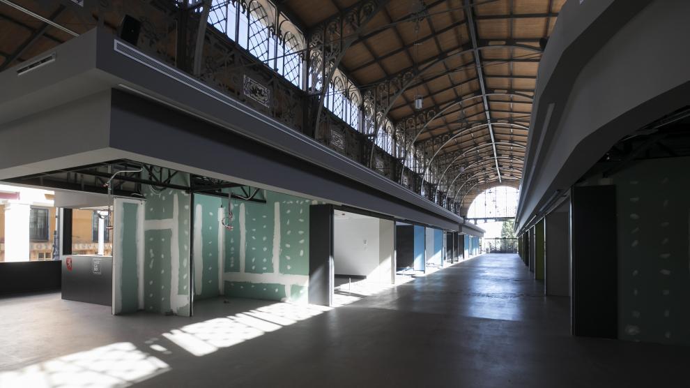 Visita a las obras del Mercado Central de Zaragoza